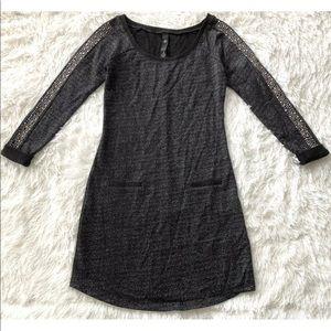 Jessica Simpson Black Metallic Dress